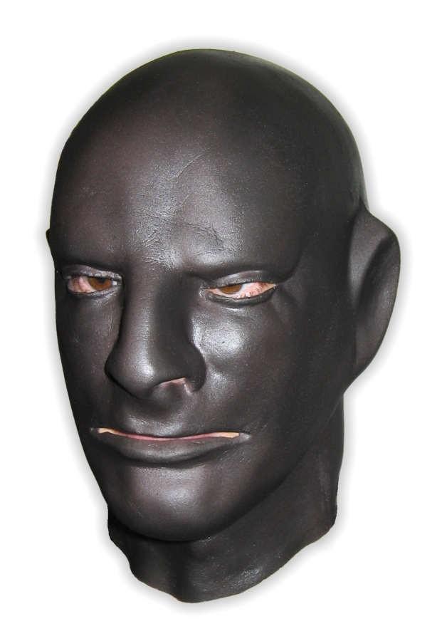 Black Latex Mask Full Head