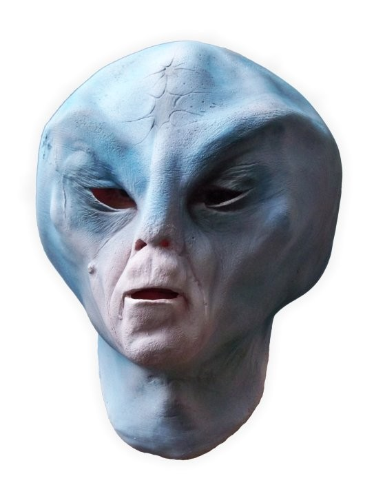 Blue Alien Latex Mask