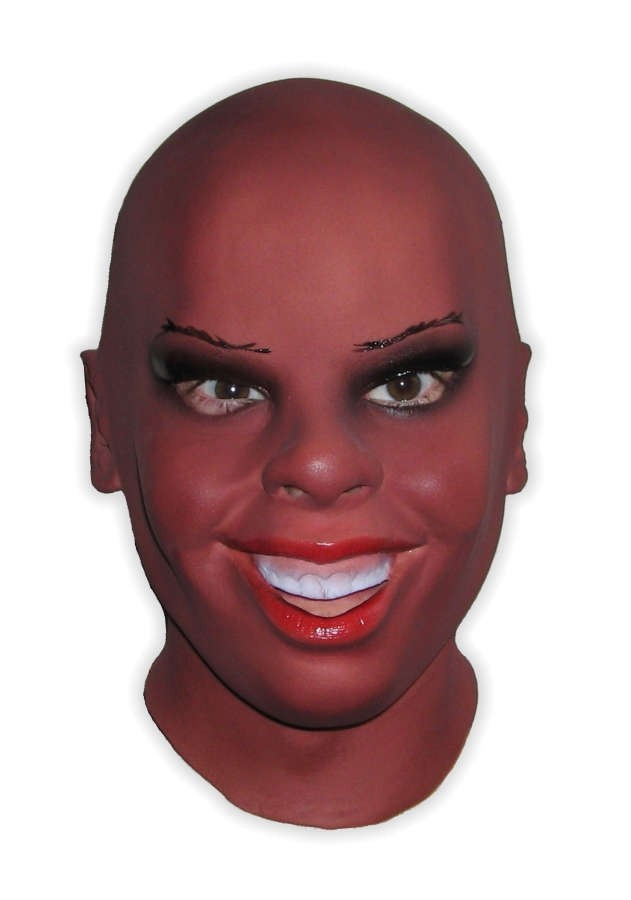Female Face Latex Mask Black Beauty