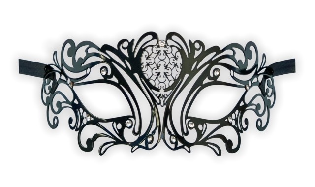 Filigree Metal Mask 'Baroque Ornaments'