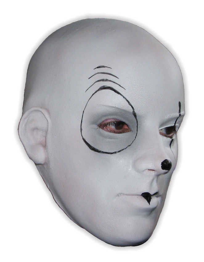 Latex Mask Horror Mime White Face