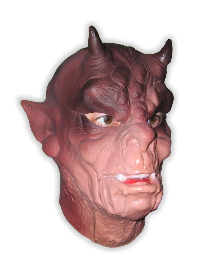 Ogre with Horns Mask Foam Latex