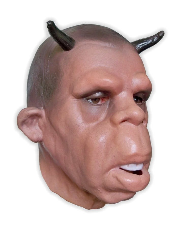 Soft Latex Mask Human Face with Horns