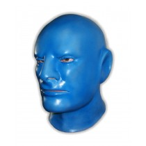 Blue Latex Mask Full Over The Head