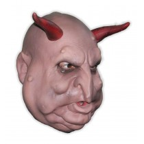 Fat Face Demon with Horns Foam Latex Mask