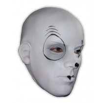 Latex Mask Horror Mime White Face