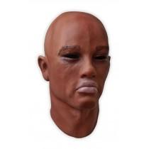 Realistic Face Mask Male Dark Skin 'Jayden'