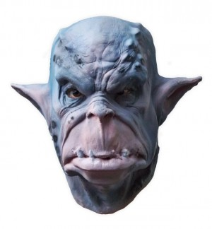 Blue Orc Latex Mask