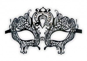 Venetian Metal Masquerade Mask 'Heart Shape'