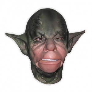 Green Extraterrestrial Creature Latex Mask