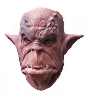 Brown Orc Latex Mask